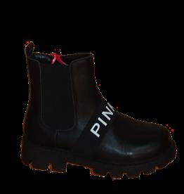 Pinko Bottine schoen leer zwart dr martens