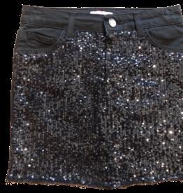 Pinko rok zwart glitters