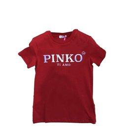 Pinko T-shirt km ti amo rood