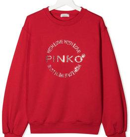 Pinko sweater rood glitters