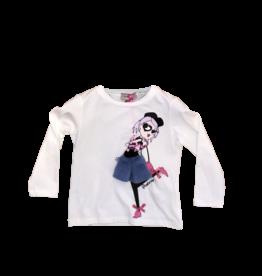 Pinko T-shirt lm ecru stretch