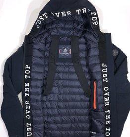 Jott dons jas met kap blauw logo