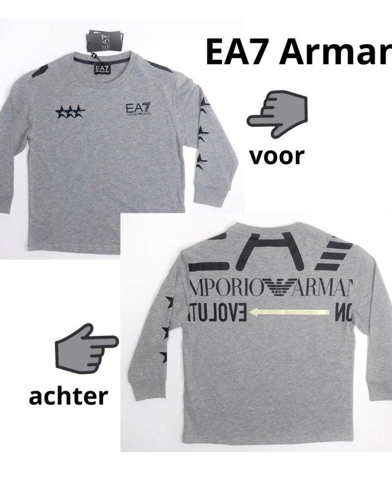 Armani/EA7 T-shirt lm sterren grijs mel�