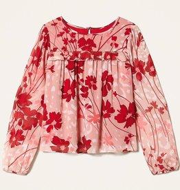Twinset blouse bloem fuchsia