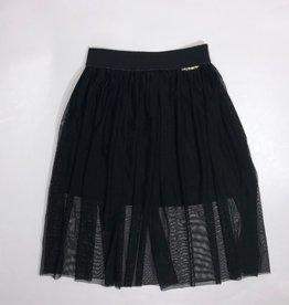 Twinset zwarte rok deel gevoerd
