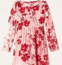Twinset jurk bloem fuchsia