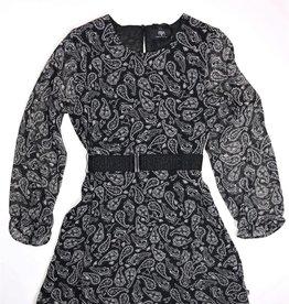 Le temps des cerises jurk paisley zwart