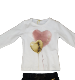Liu Jo t-shirt wit Liu Jo ballonnen