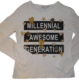 Elsy t-shirt wit milennial