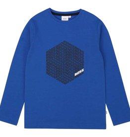 Boss t-shirt lm kobalt met logo's