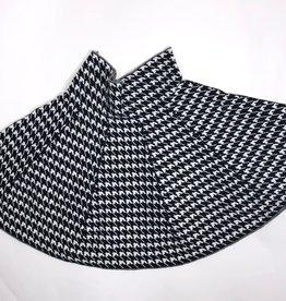 VO rok ruit zwart wit