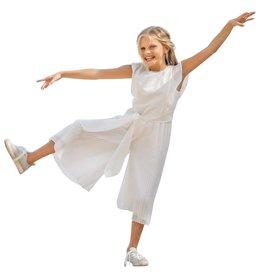 Linea Raffaelli jumpsuit ecru met plisse broek