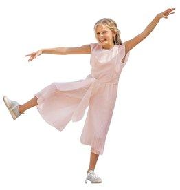 Linea Raffaelli jumpsuit roze plisse broek