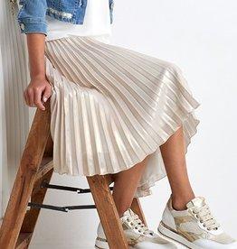 RTB lange goudkleurige plisse rok