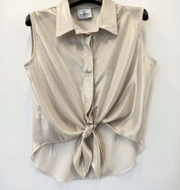 RTB goudkleurige blouse zm kraagje