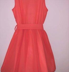 RTB jurk uni koraal rood
