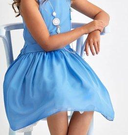 RTB jurk uni licht blauw
