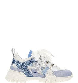 Monnalisa sneaker met blauw en strass