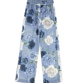 Monnalisa broek blauw met rozen en bloemen