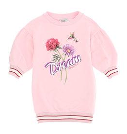 Monnalisa roze jurk wijde mouw dream