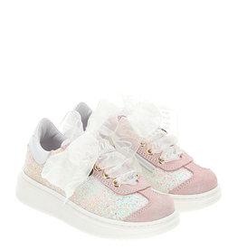 Monnalisa sneaker roze glitter strik monnalisa