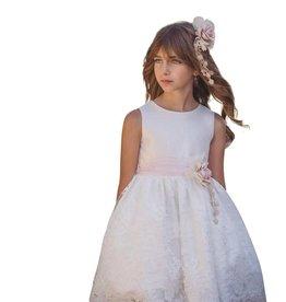 Mimilu jurk ecru met borduur rok