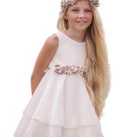 Mimilu gladde voile jurk lagen rok