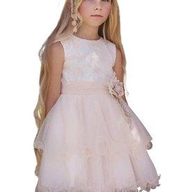 Mimilu l.roze jurk achter langer dan voor