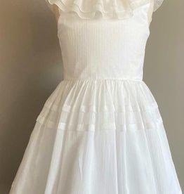 Monny jurk wit kraag hals