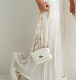 Diamante Blu broekrok lang plisse goud kleur