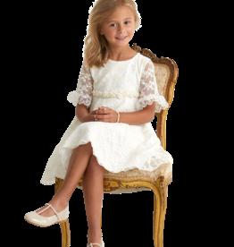 Miss Leod jurk met  met kanten mouw