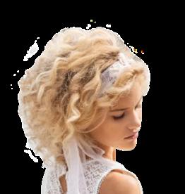 Linea Raffaelli haarband ecru met gouddraad