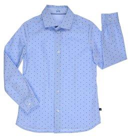 Gymp hemd blauw pinda