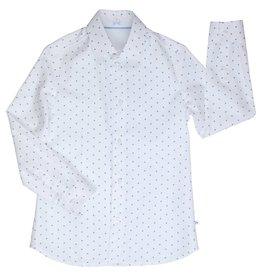 Gymp hemd wit l blauw pistache