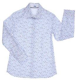 Gymp hemd wit blauw rummykub