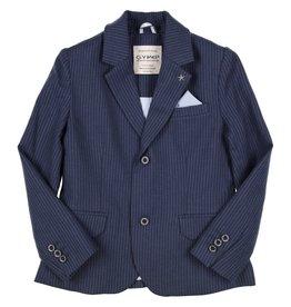 Gymp blazer streep blauw wit bosporus