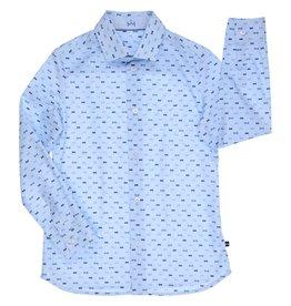Gymp hemd lichtblauw strikjes papy