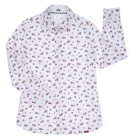Gymp hemd wit rood vespa