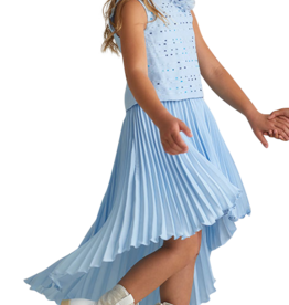 Miss Leod rok hoog blauw langer achter