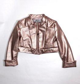 Miss Leod blazer leatherlook rose goud