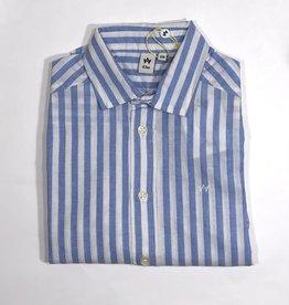 Dlux hemd streep l.blauw wit