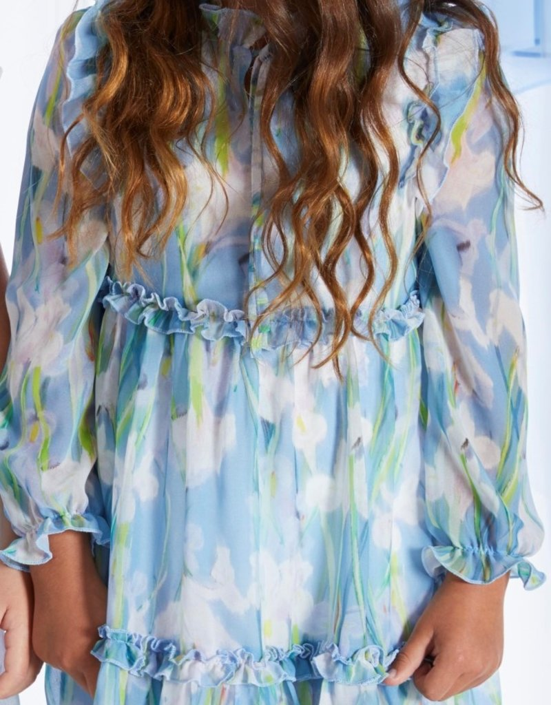 Blue Bay jurk Sienna blauw bloemen