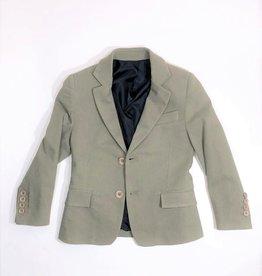 Red Limit Kaki kleur gevoerde jersey blazer