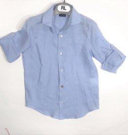 Red Limit hemd blauw oprolbare mouw
