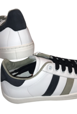 Red Limit/Hoops witte sneaker met blauw en kaki