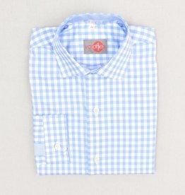 Varones hemd ruit wit l.blauw