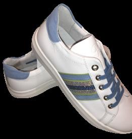 RTB/Hoops sneaker wit met turquoise