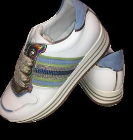 RTB/Hoops sneaker wit met midden blauw