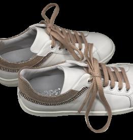 Hoops sneaker wit met roze/nude accent