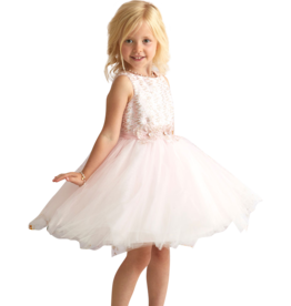 Miss Leod jurk roze tule met goud roze top
